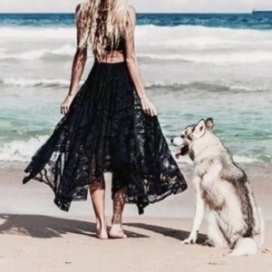Spell & The Gypsy Rhiannon Black Lace Skirt Small